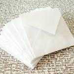 White Mini Envelopes Handm..