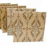 Damask Mini Cards Kraft Mi..